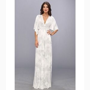 New Rachel Pally Tile Print Caftan Maxi Dress S